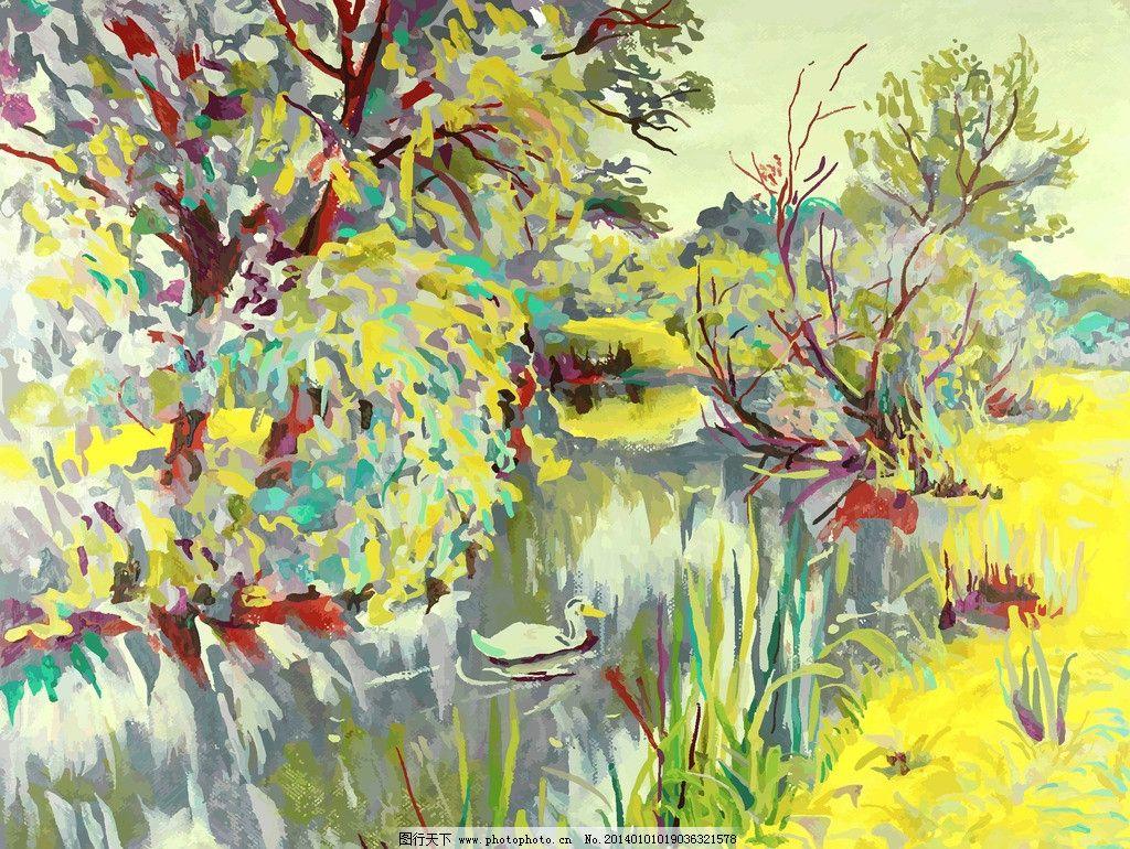 装饰画 壁画 欧式风景 绘画书法 艺术品 美术绘画 文化艺术 矢量 eps