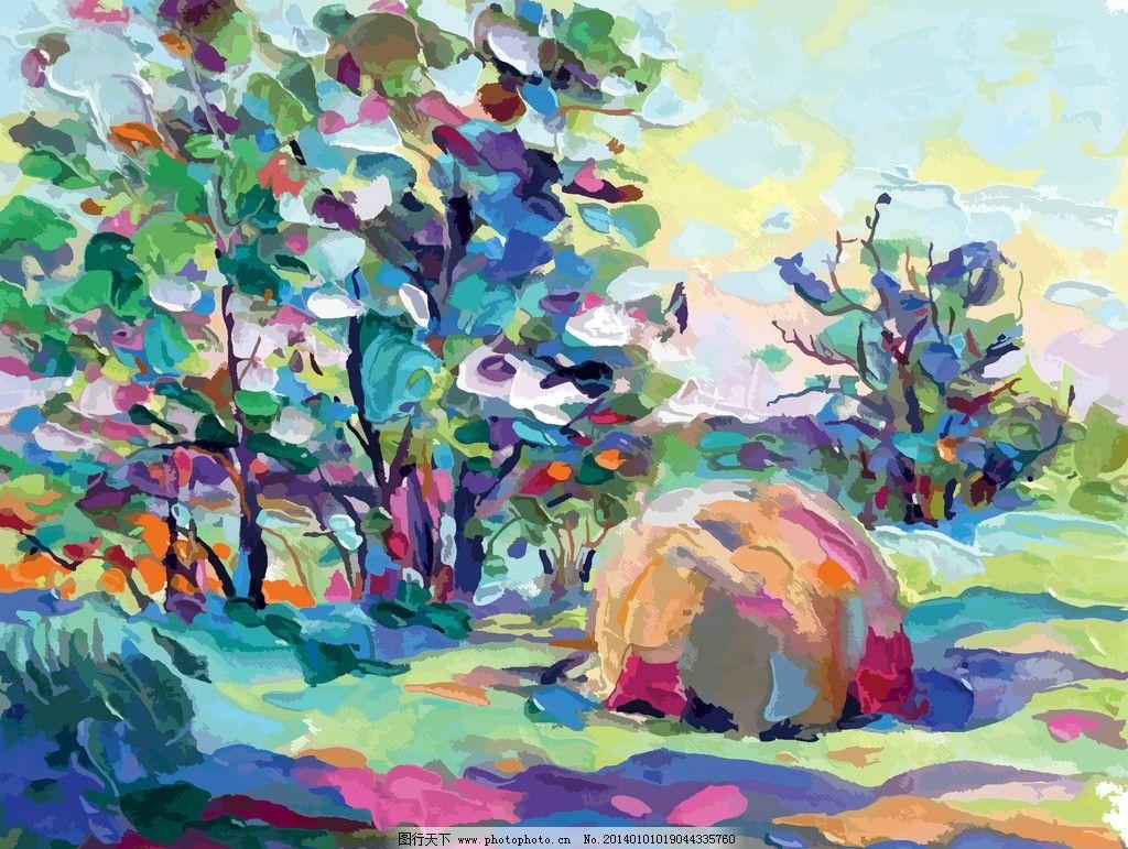 油画 绘画 风景画 装饰画 壁画 欧式风景 绘画书法 艺术品 美术绘画