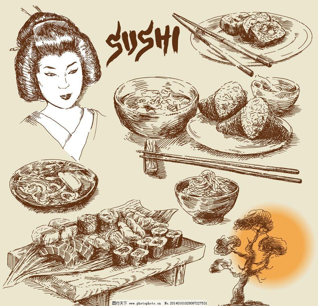 日壽司 海鮮 壽絲卷 日本女人