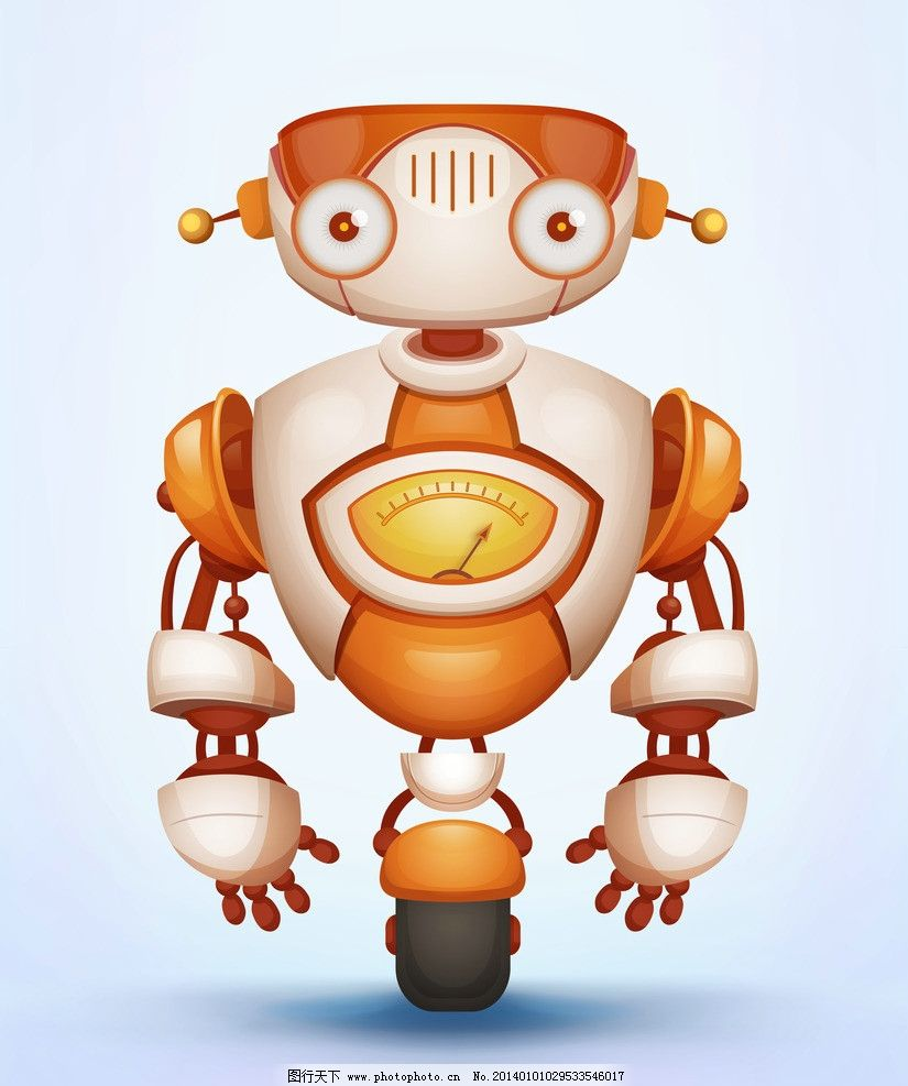 机器人 可爱 卡通 创意