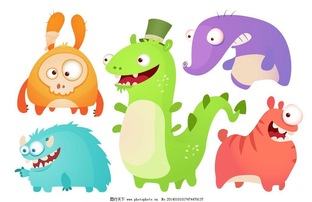 卡通形象 手绘动物