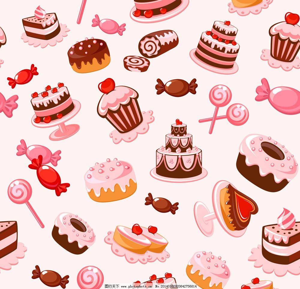 卡通甜点背景图片
