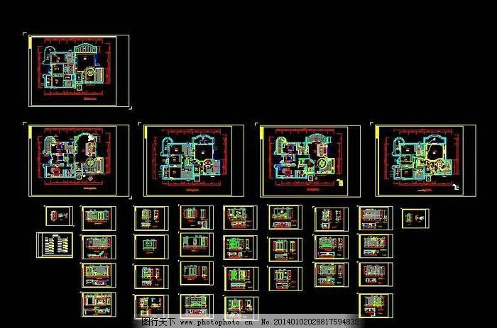 私人住宅装修设计图 平面布置图 办公室 消防疏散图 大厦 图纸