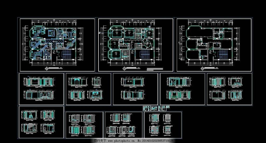总统套房装修施工图 平面布置图 办公室 消防疏散图 消防 大厦 图纸