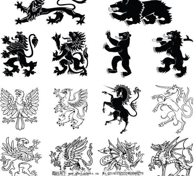 手稿线条狐狸纹身图案-龙凤纹身图案 龙纹身手稿图片