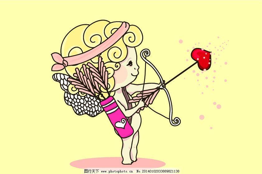丘比特 爱神 爱神丘比特 天使 女孩 小女孩 可爱的女孩 弓箭
