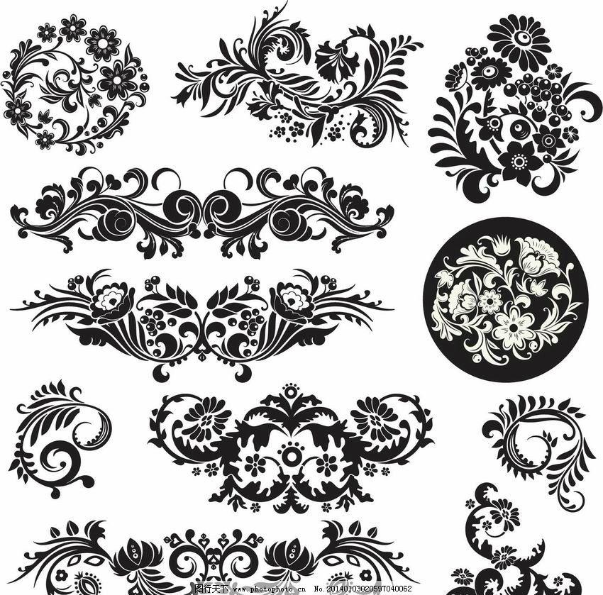 设计图库 海报设计 地产海报  花纹设计 古典花纹 欧式花纹 时尚花纹