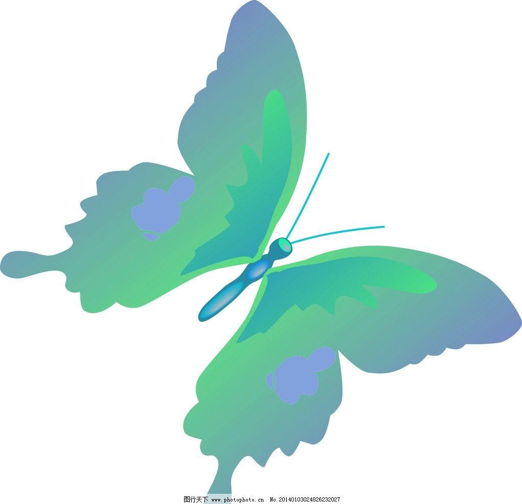 花蝴蝶 动物 生物 矢量图