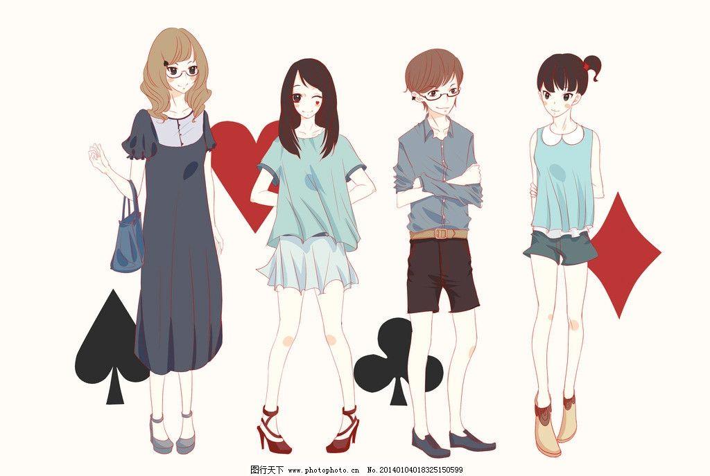 时装少女      漫画 人物