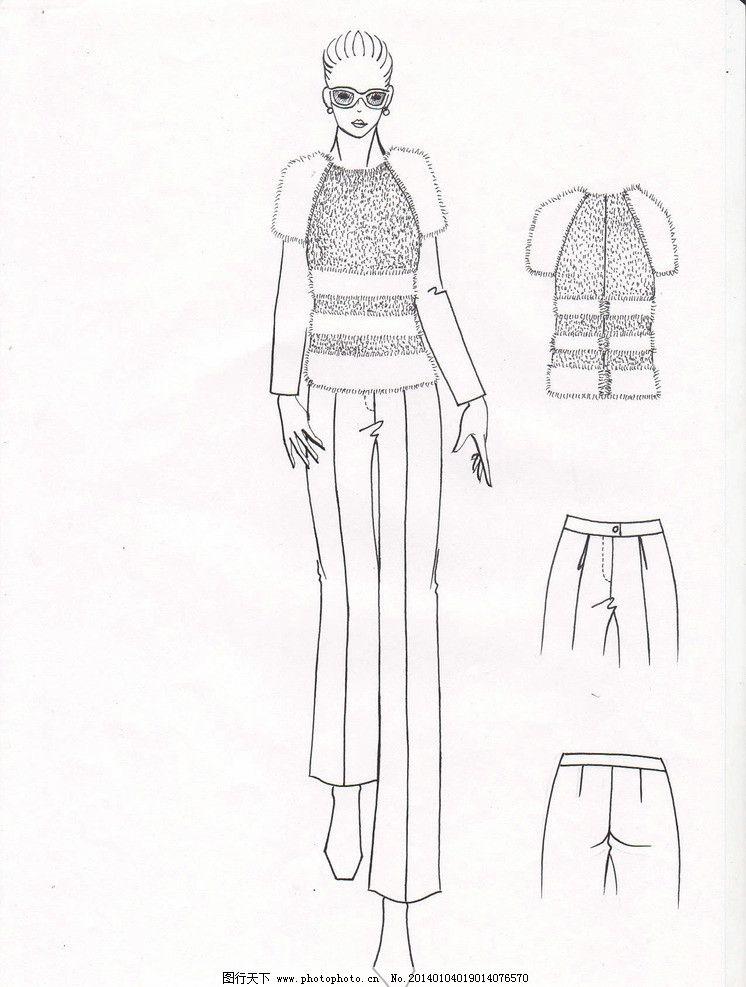 服裝設計手稿圖片