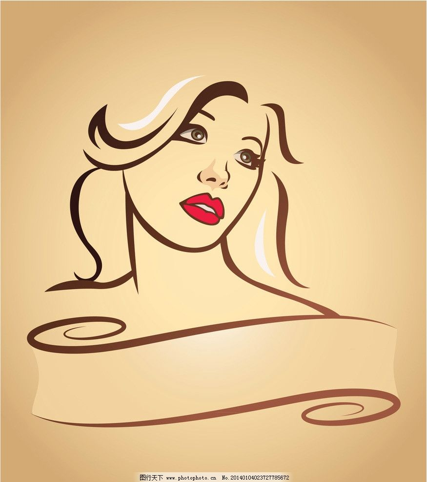复古时尚美女 复古人物广告 复古 手绘 迷人 性感 夜店 美女 女性