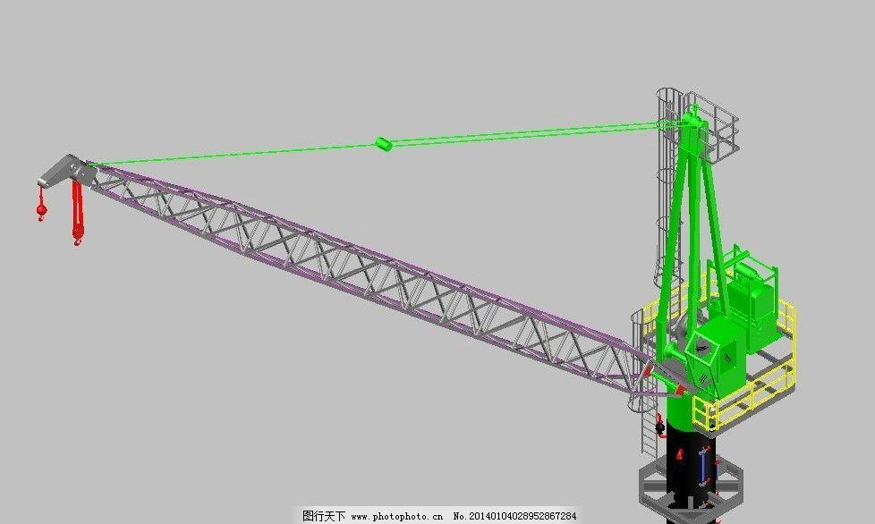塔吊3d模型图片