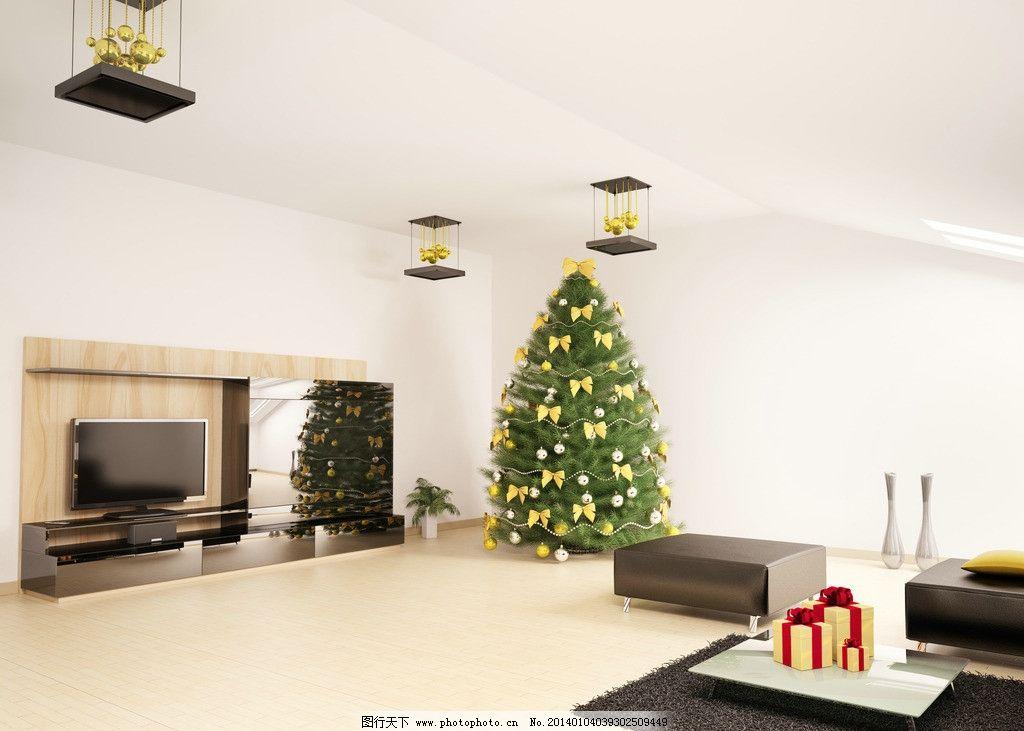 圣诞节圣诞树 圣诞节 节日 庆祝 圣诞日 圣诞树 装饰 装潢 室内设计