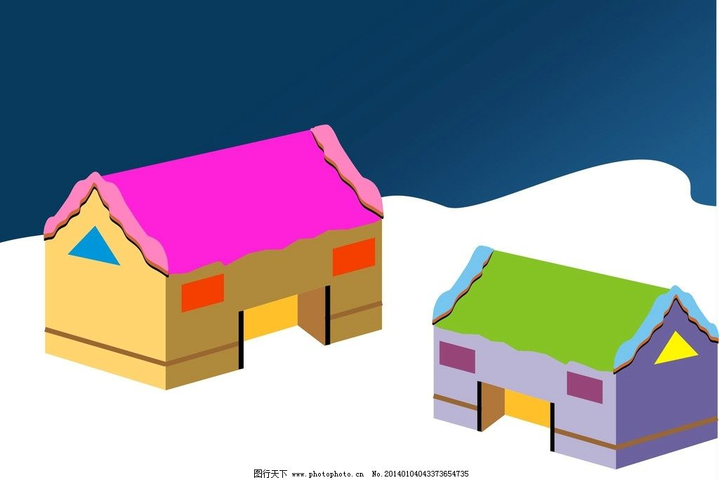 房子矢量图 小屋 广告设计 矢量 房屋 卡通房 卡通屋 卡通设计 cdr