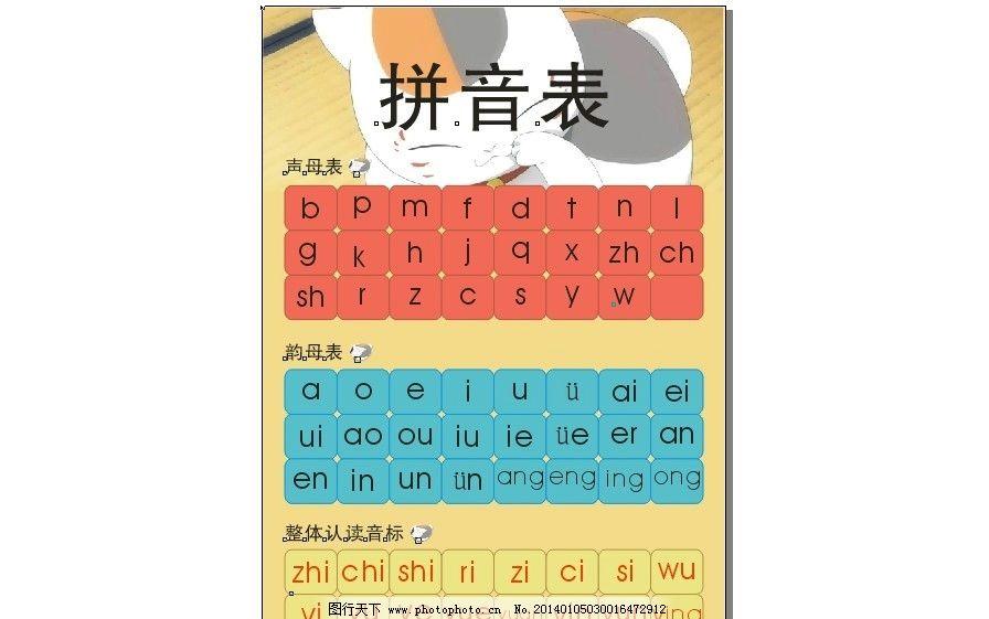 拼音字母表图片图片
