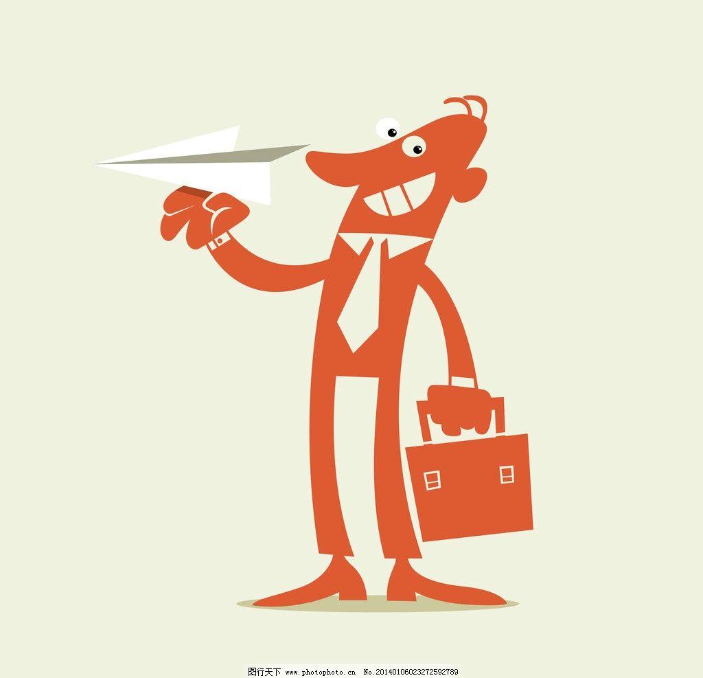 商务人物 商务 人物 人士 卡通人物 纸飞机 姿势 动作 商务人物矢量