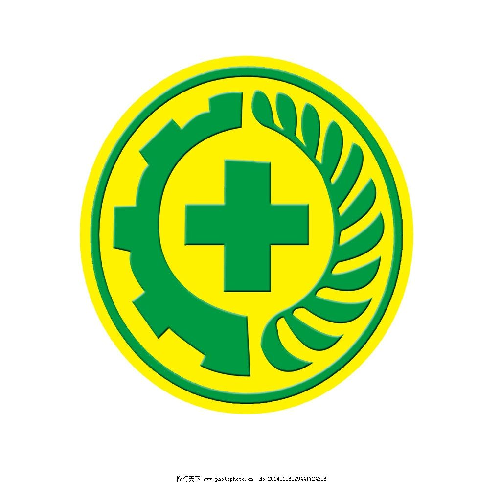 绿色十字标 十字标 花边 边框 标志设计 广告设计模板 源文件 300dpi