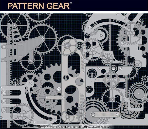 齿轮素材免费下载 vi设计 齿轮 广告设计 机械 机械素材 矢量齿轮