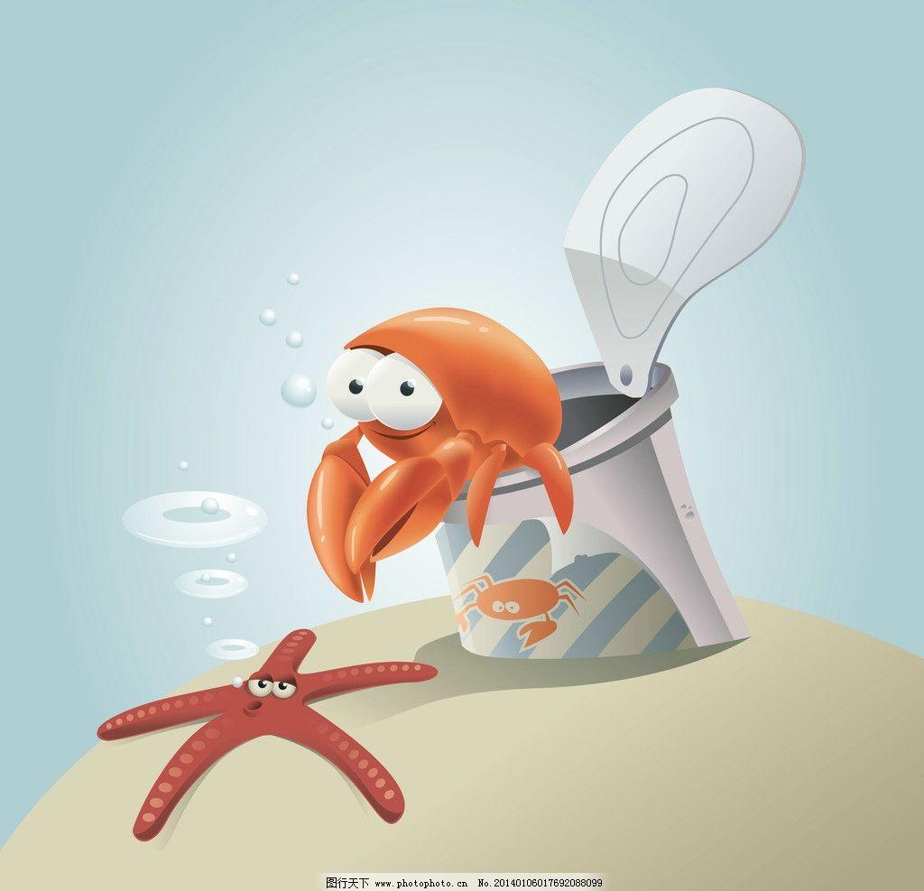 卡片 动漫设计 卡通形象 手绘动物 矢量素材 矢量 生物世界 eps 海洋