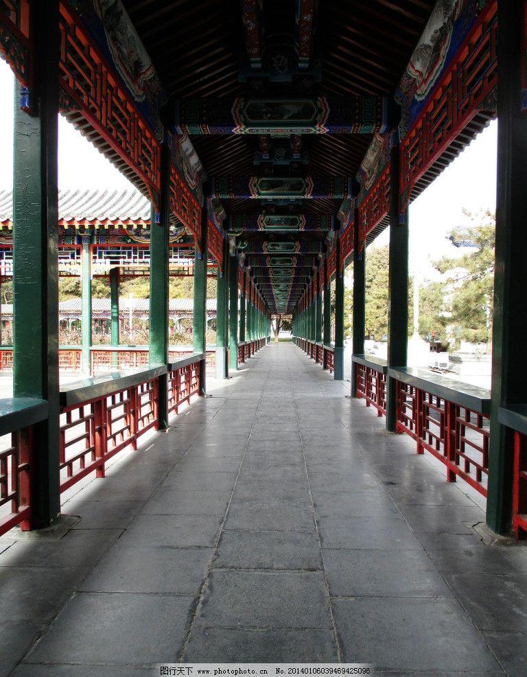 长亭 长廊 古代建筑 木长亭