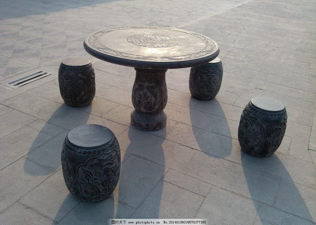 古建筑场景石桌贴图素材