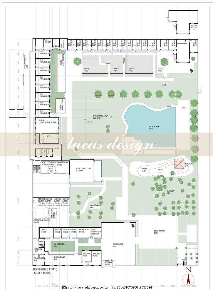 建筑景观平面图 平面图 建筑景观设计 ai eps 矢量图 城市建筑 建筑