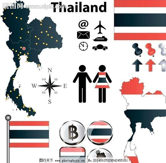 泰国设计 泰国 泰国文化 泰国风情 泰国艺术 泰国旅游 曼谷 矢量背景