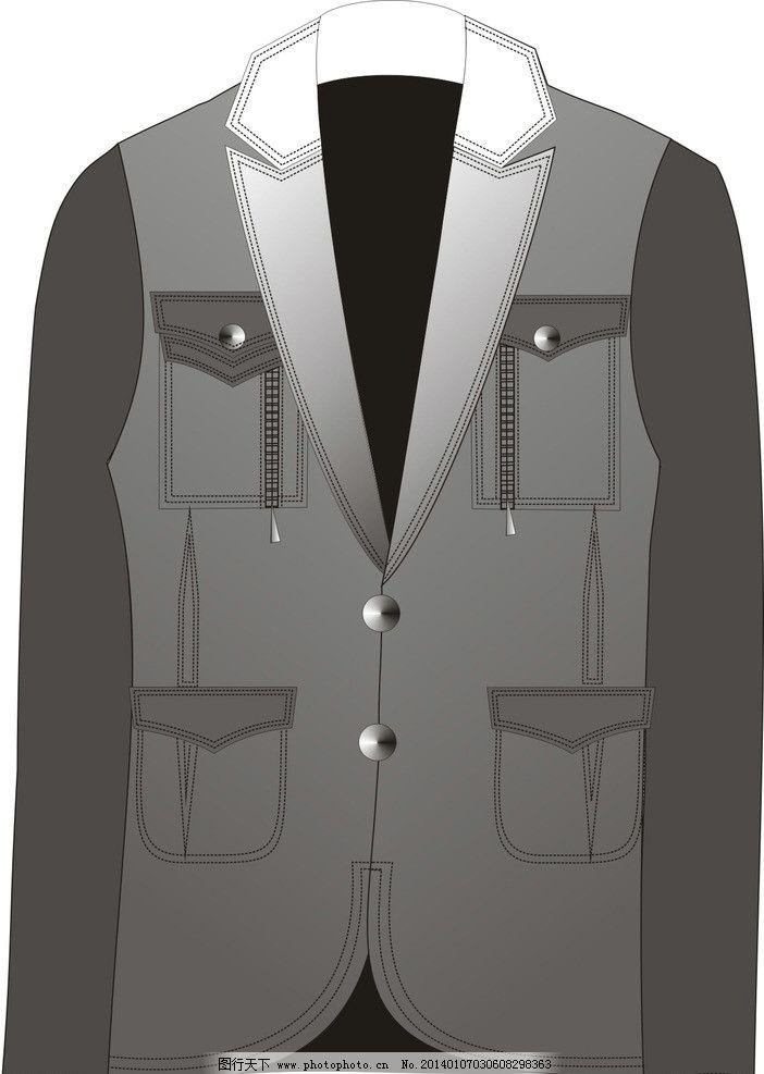 男西装基础模板 服装设计 男西装 矢量图 设计稿 cdr款式图 广告设计