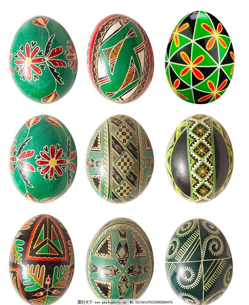 菜单花纹 彩蛋设计 复活节 鸡蛋 鸭蛋 生活素材 彩蛋系列 彩绘 传统