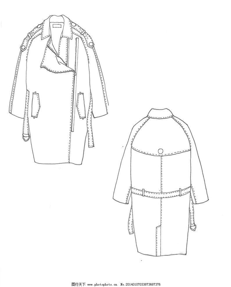 女式风衣外套款式图图片