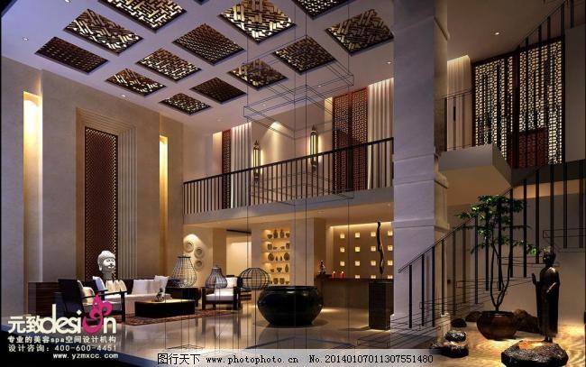 美容院大厅图片模板下载 美容院大厅图片 酒店spa设计图 spa会所装修