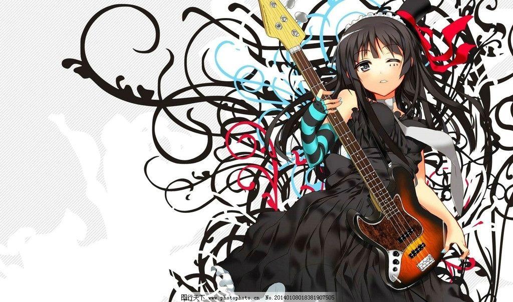 动漫美女 美女 手绘美女 音乐 吉他 歌手 动漫壁纸 动漫人物 动漫动画
