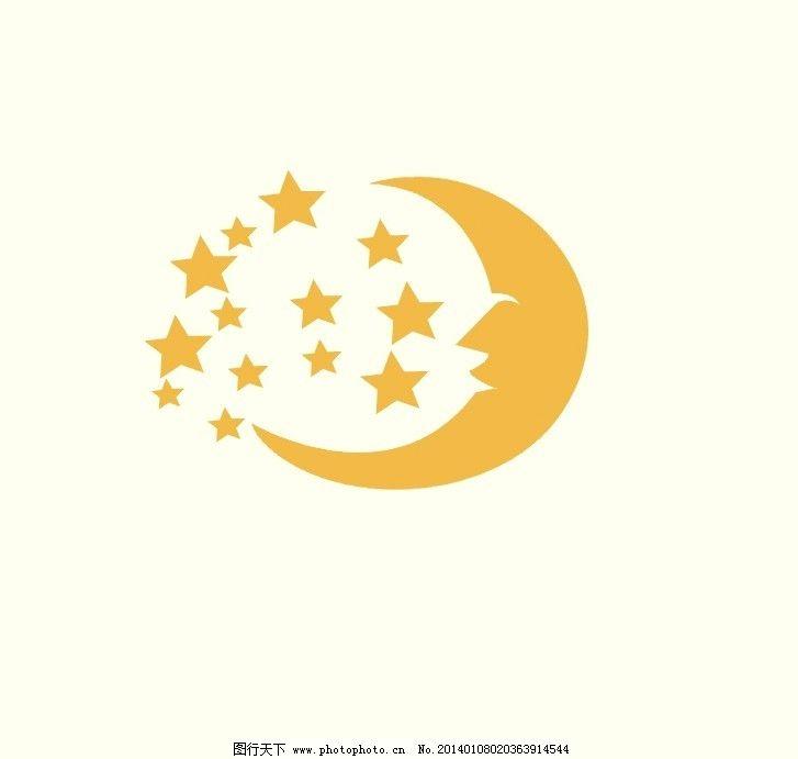 星星 月亮 建筑 家居 硅藻泥 好环境 花纹花边 底纹边框 矢量图片