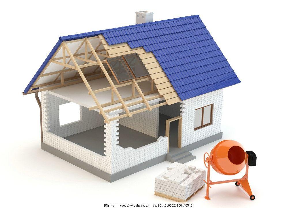 3d建筑模型 建筑设计 示意图 样板 房子 住宅 工程图 设计图