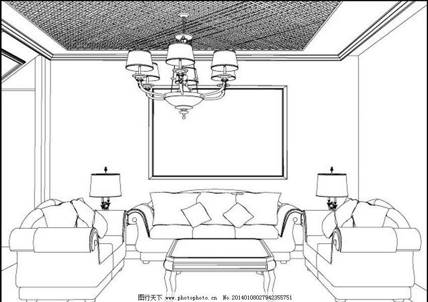 装潢 装修 示意图 模型图 手绘 时尚 矢量 室内设计矢量 建筑家居 eps