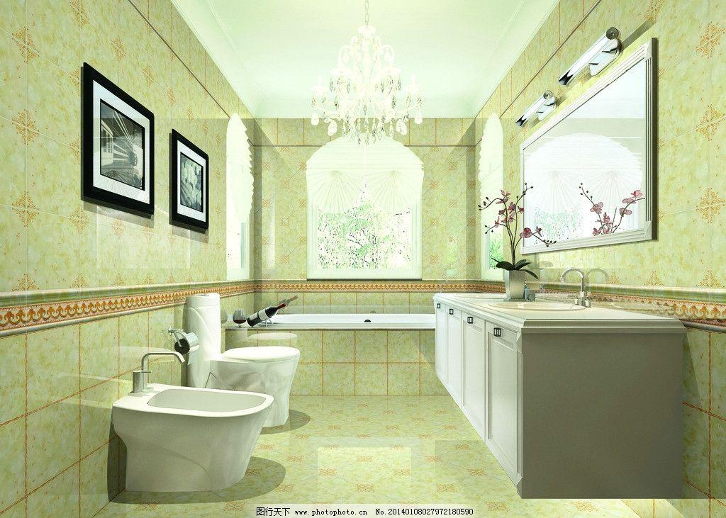 洗手台 墙画 欧式