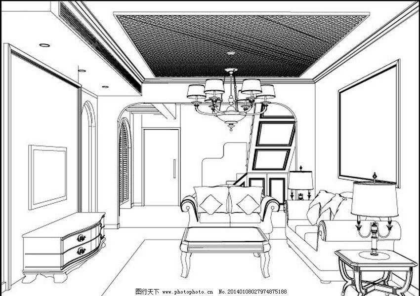 吊灯 室内设计 素描 装潢 装修 示意图 模型图 手绘 时尚 矢量 室内