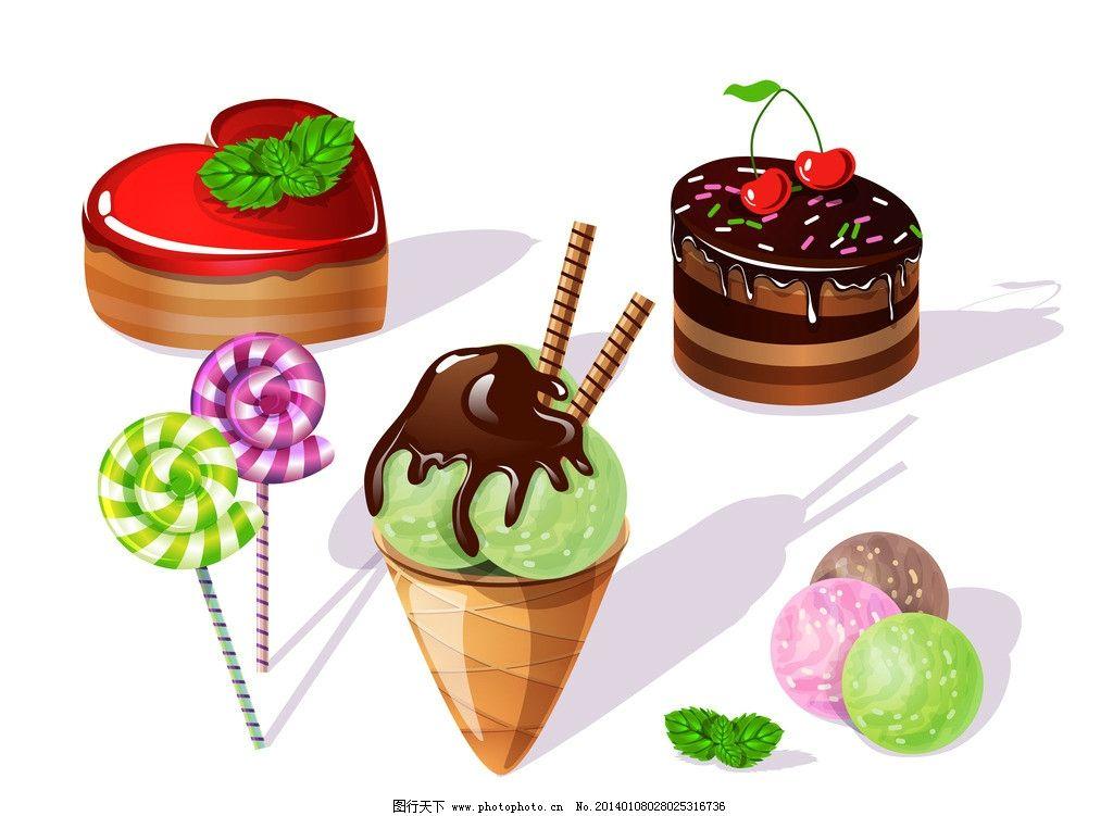 巧克力蛋糕 巧克力饼干 糖果 生日蛋糕 可爱 卡通表情 甜点 点心