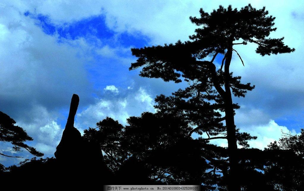 三清山 高山 绿树 松树 蓝天 白云 三清山风光 自然风景 自然景观