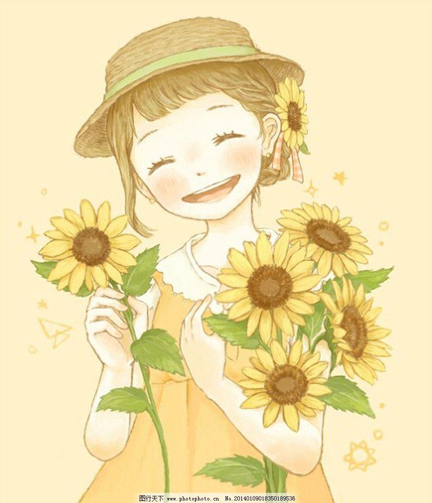 手绘插画 插画 艺术 设计 手绘 美术 人物 花卉 动漫人物 动漫动画 72
