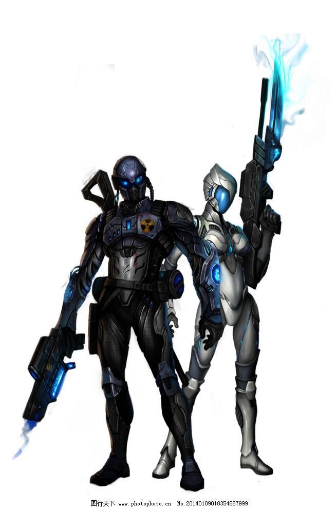 未来战士 未来 战士 纳米 武器 战警 动漫人物 动漫动画 设计 28dpi