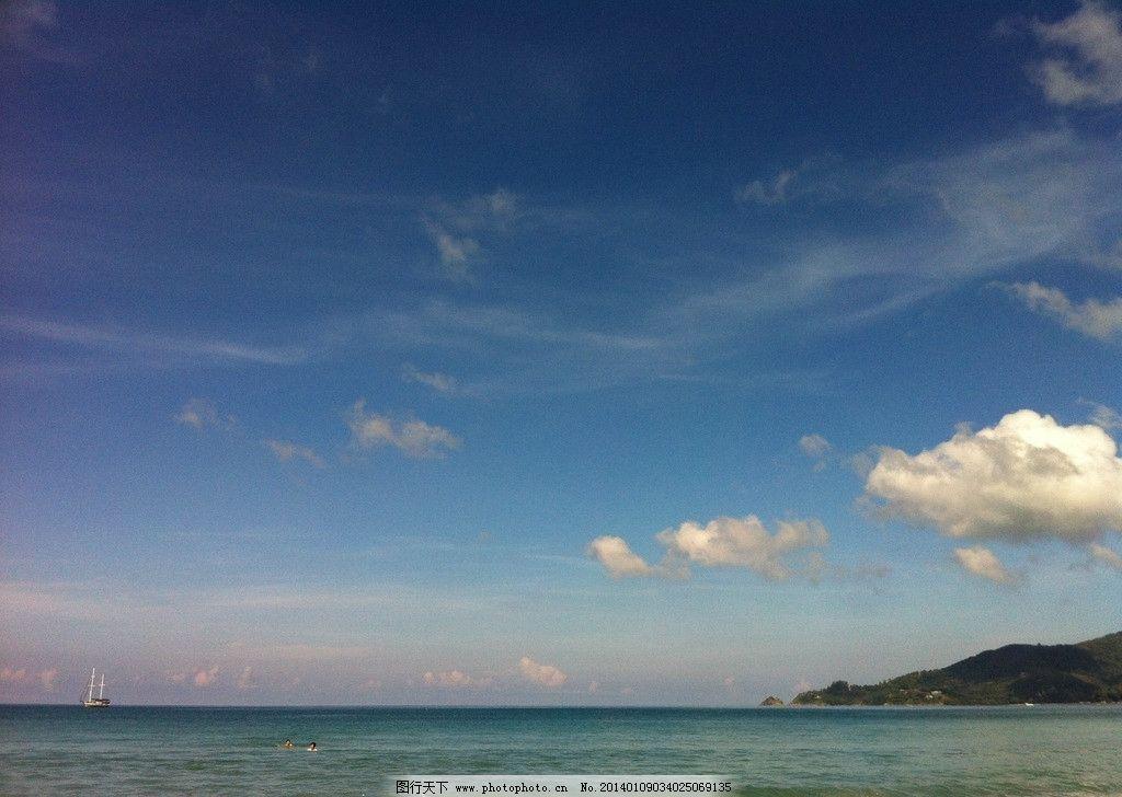 普吉岛 攀牙湾 泰国 小桂林 白云 海面 海岛风景 旅游 国外旅游