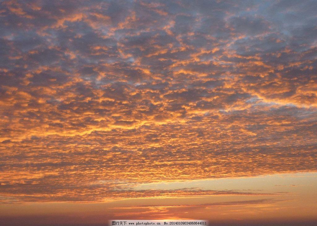 天空 天空素材 云 云层 晚霞 霞光 自然风景 自然景观 摄影