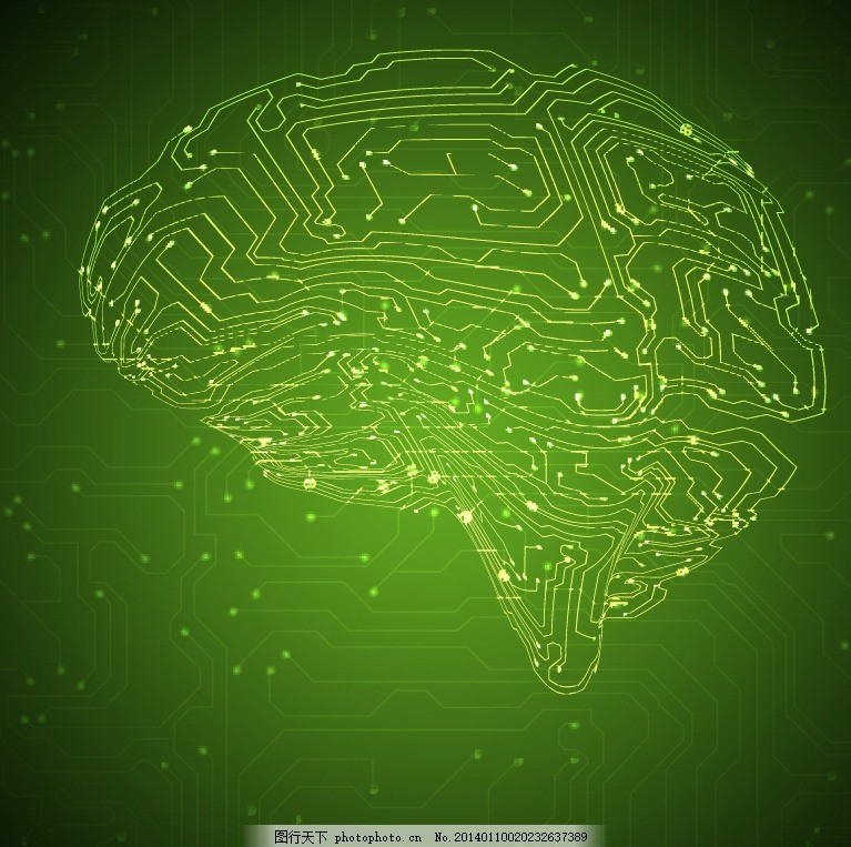 高科技 科技元素 大脑 数字 务科技背景 环路 线路 曲线 弯曲 电路板