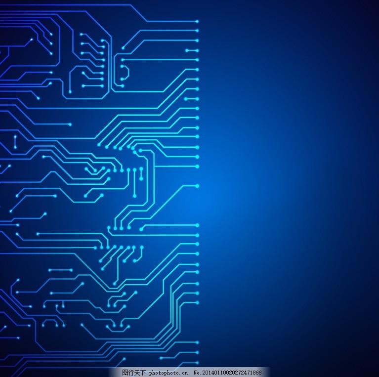 高科技 科技元素 地球 商务科技背景 蓝色 环路 线路 曲线 弯曲 电路