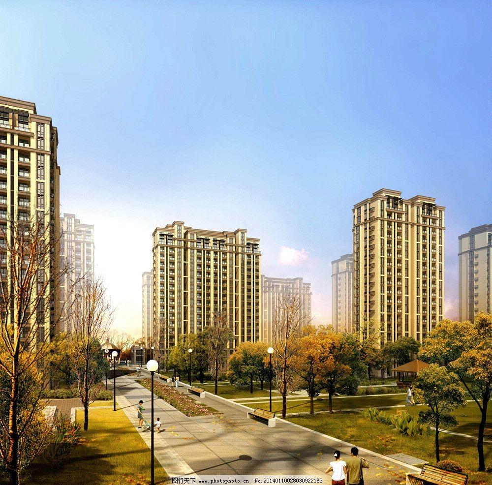 住宅建筑 居住区 鸟瞰 住宅 环境 高层 建筑设计 环境设计 设计 72dpi