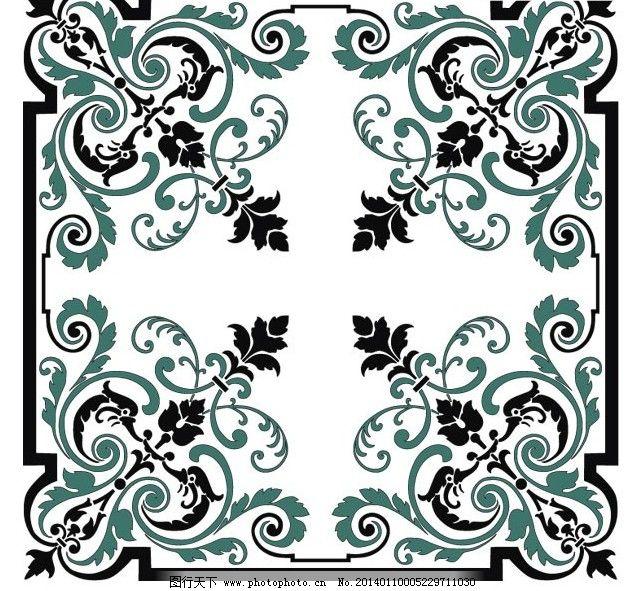 古典欧式花纹边角矢量素材