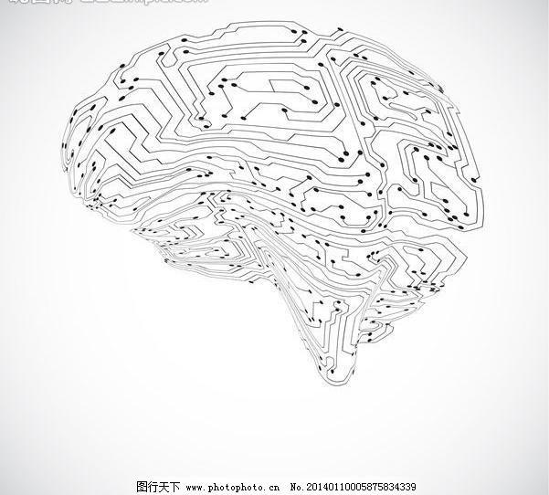 eps it 背景设计 抽象背景 抽象设计 大脑 底纹背景 底纹边框 电路图片
