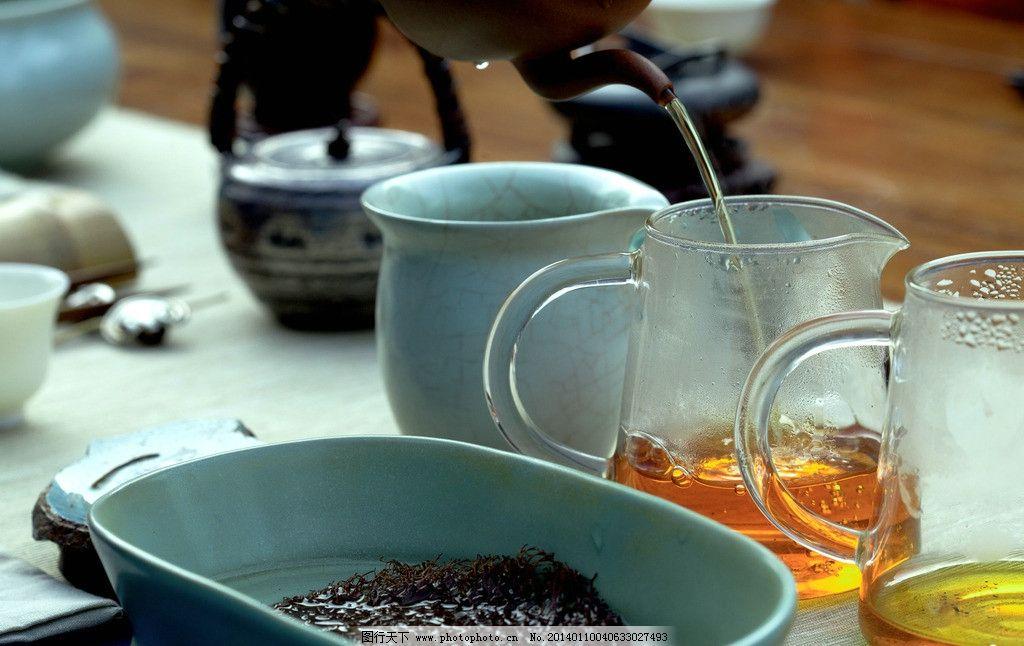 功夫茶艺 茶具 茶杯 茶海 红茶 茶壶 紫砂壶 银壶 茶台 泡茶