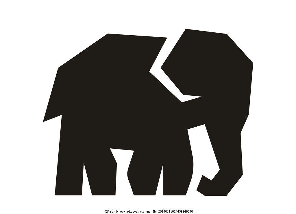 大象 象 大象矢量图 简单 手绘 野生 动物 野生动物 生物世界 矢量